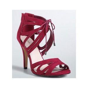 TORRID | Burgundy Scallop Lace Heels 9 Wide